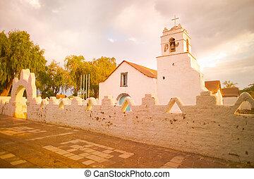 Church of San Pedro de Atacama, Atacama Desert, Chile, South America
