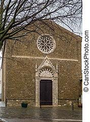 church of Sant Agostino, Montalcino, Italy - church of Sant ...