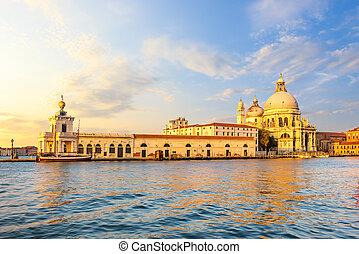 Church of Santa Maria Della Salute in Venice at sunset