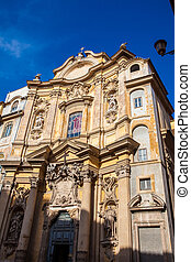 Church of Santa Maria Maddalena in Rome completed in 1699
