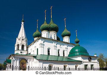 Church of Spasa na Gorodu. Yaroslavl, Golden Ring of Russia.