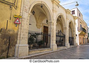 Church of St. Agostino. Montescaglioso. Basilicata. Italy.