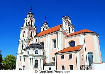 Church of St. Catherine in Vilnius, spring time. One of the many beautiful churches in Lithuania.