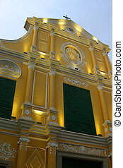 Church of St Dominic at dusk, Macau