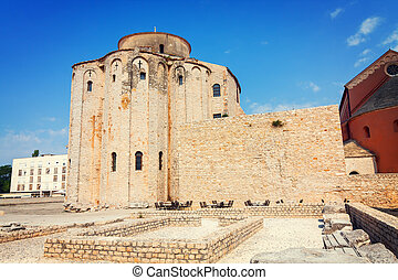 Church of st. Donat, a monumental building from the 9th century in Zadar, Croatia