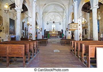 Church of St. Donato. Civita di Bagnoregio. Lazio. Italy.