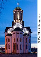 Church of St. George in the Bila Tserkva in spring