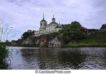 Church of St. George River Chusovaya in the Perm region