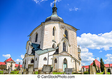 Church of St. John Nepomuk in Zelena Hora, Czech republic