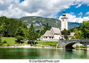 Church of St John the Baptist, Bohinj Lake, Slovenia