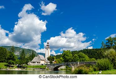 Church of St John the Baptist, Bohinj Lake, Slovenia1