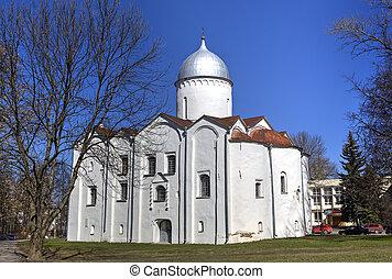 Church of St. John the Forerunner on Opoki. Veliky Novgorod, Russia