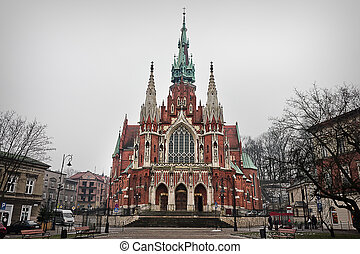 Church of St. Joseph in Krakow.  Sights of Poland