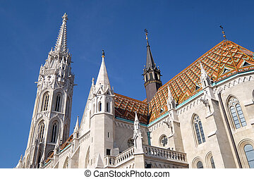 Church of St. Matthias near the fisherman bastion in Budapest, Hungary