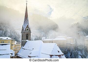 Church of St. Primus and Felitsian. Austrian spa and ski resort Bad Gastein