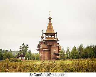 Church of St. Sergius of Radonezh at the waterfall Gremyachiy key. Moscow region