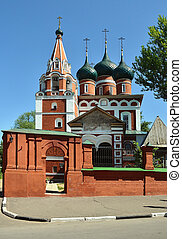 Church of the Archangel Michael in Yaroslavl. Gold ring of Russia