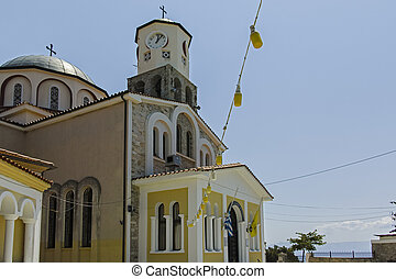 Church of the Assumption at old town of city of Kavala, Greece
