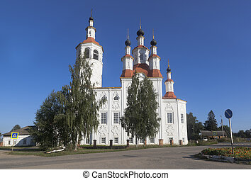 Church of the Entry of the Lord into Jerusalem in the ancient city of Totma, Vologda Region