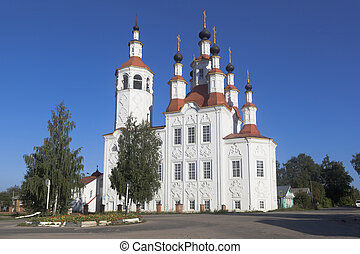 Church of the Entry of the Lord into Jerusalem in the ancient Russian city of Totma