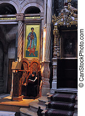 Church of the Holy Sepulcher in the Jerusalem Israel