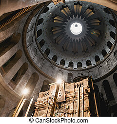 Church of the Holy Sepulchre in old city Jerusalem, Israel.