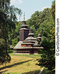 Church of the Intercession of Holy Virgin 1792 from Pirogovo, Kiev, Ukraine