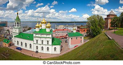 Church of the Nativity John the Baptist and Kremlin wall