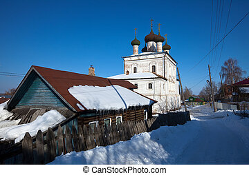 Church of the Resurrection  at Gorokhovets in winter