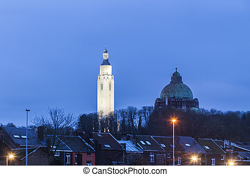 Church Of The Sacred Heart in Liege. Liege, Wallonia, ...