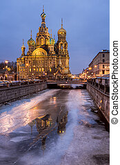 Church of the Savior on Spilled Blood in the Morning, Saint...
