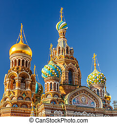Church of the Savior on Spilled Blood in St. Petersburg,...