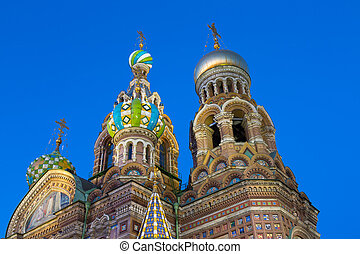 Church of the Saviour on Spilled Blood in night, St. Petersburg, Russia