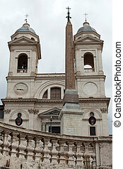 Church of Trinita' dei Monti (Spanish Steps) in Rome, Italy