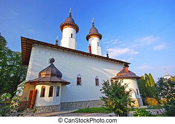 Varatec monastery - Church of Varatec monastery in Moldavia,...