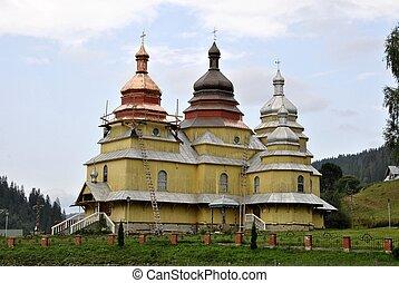 church of village in Ukraine