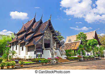 Church of Wat J-D-Luang, Chiang Mai, Thailand.