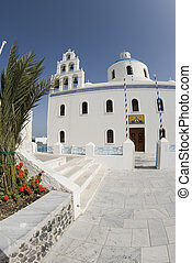 church oia santorini greek islands
