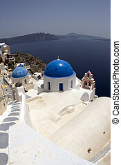 church oia santorini greek islands