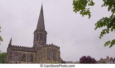 Church on a gloomy day