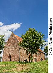Church on a hilltop in Ezinge