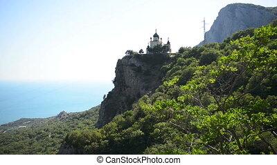 Church on a mountain plateau
