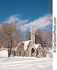 church on a winter day