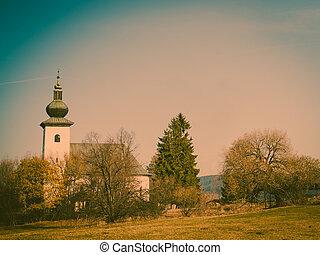 church on hill, Slovakia