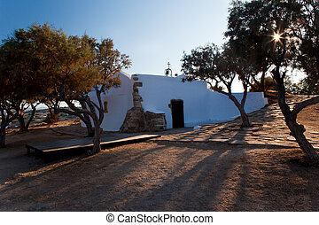 Church on island Crete - Small coastal churchlet on Crete