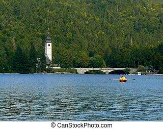 Church on Lake Bohinj
