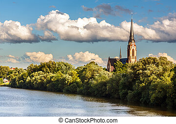 Church on Main river