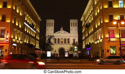 Church on Nevsky Prospect in St. Petersburg, Russia