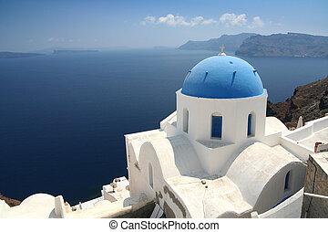 Church on Santorini in the town Oia