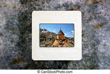 Church on slide film